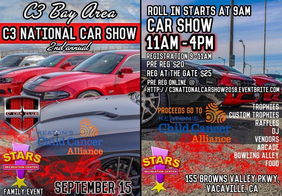 Funderland Amusement Park Keatons Child Cancer Alliance - Bay area car shows this weekend